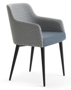 Andy-PM, Armchair with legs in tubular iron