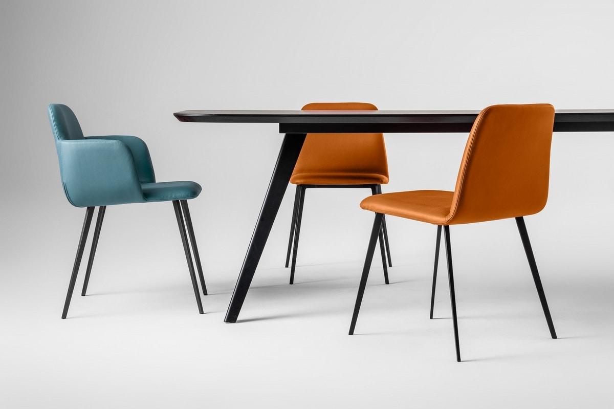ART. 0031-MET-CB-UPH BARDOT, Padded small armchair