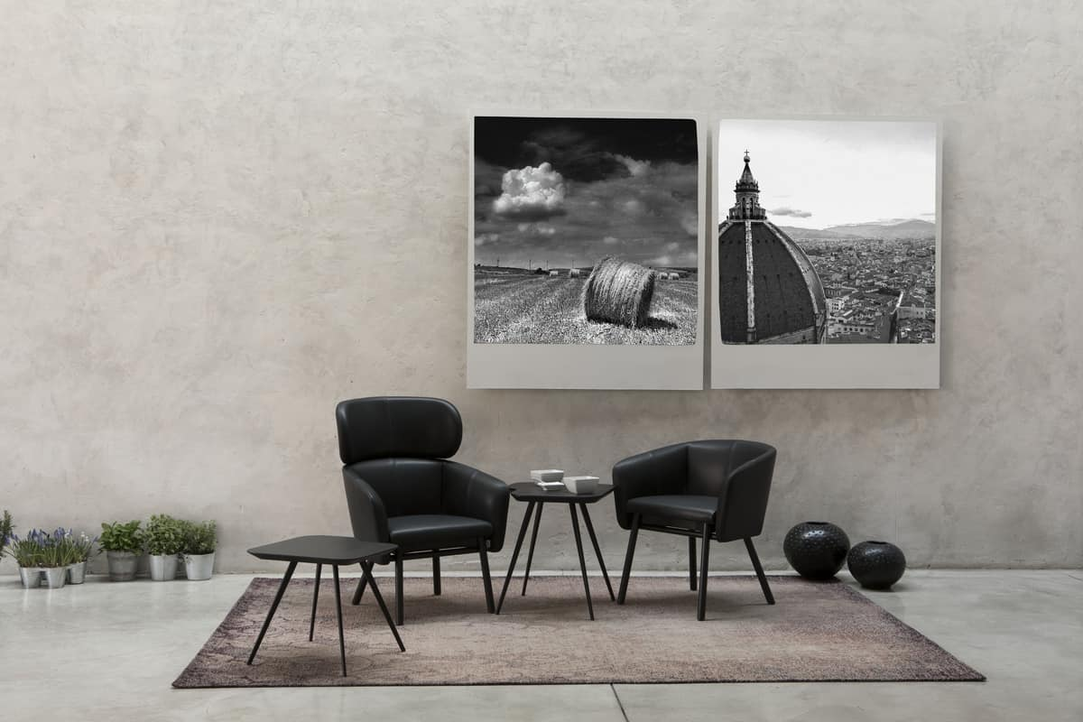 ART. 0050 BALÙ, Comfortable tub chair for home and public areas