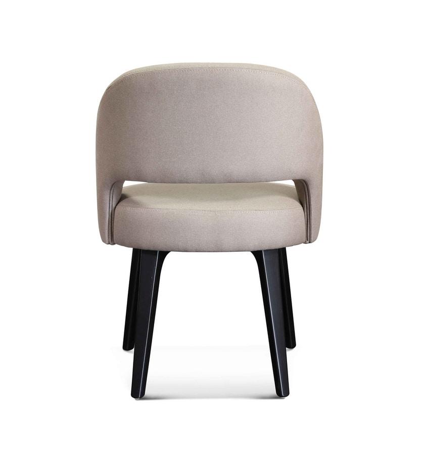 ART. 3369, Small armchair with Eucalyptus finish legs