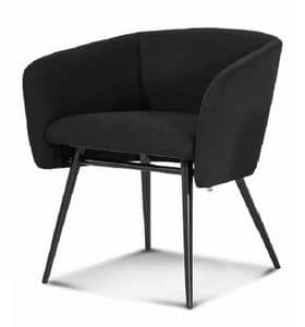 ART. 0052 BAL� Met, Armchair with metal base, coned legs