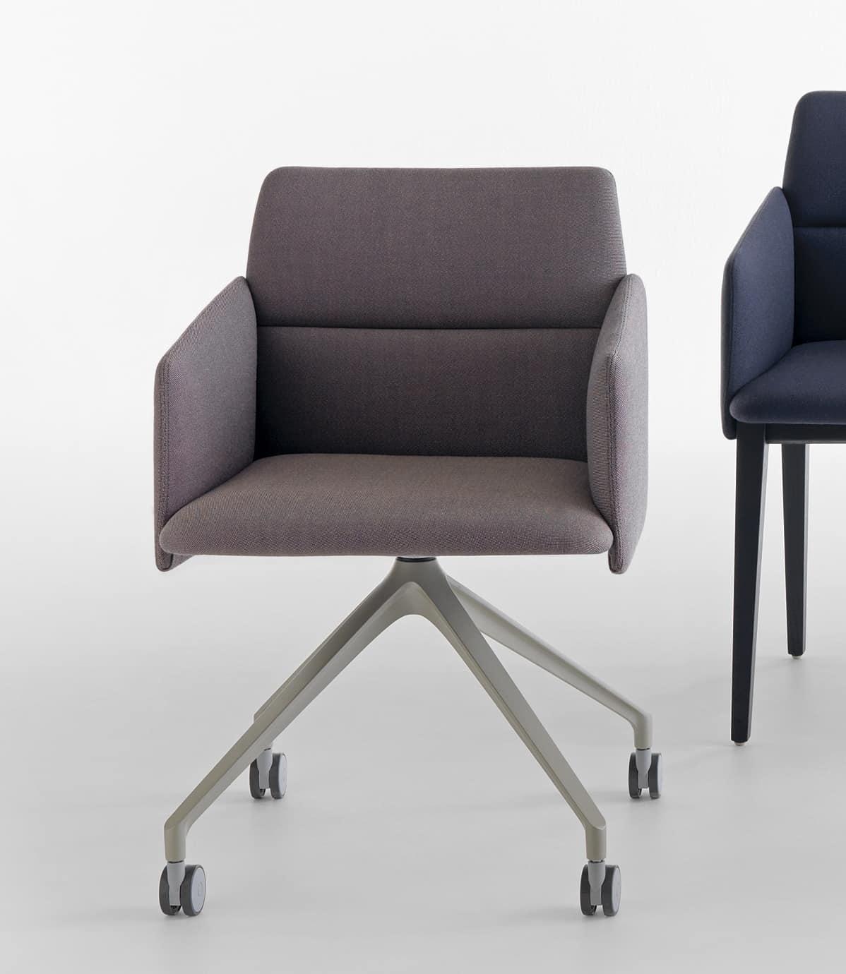 Aura P/SW, Padded armchair on castors