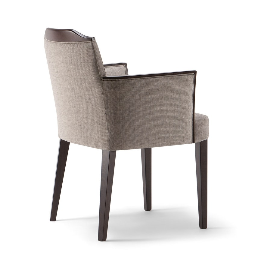 BOSTON ARMCHAIR 010 PB, Modern chair for contract use