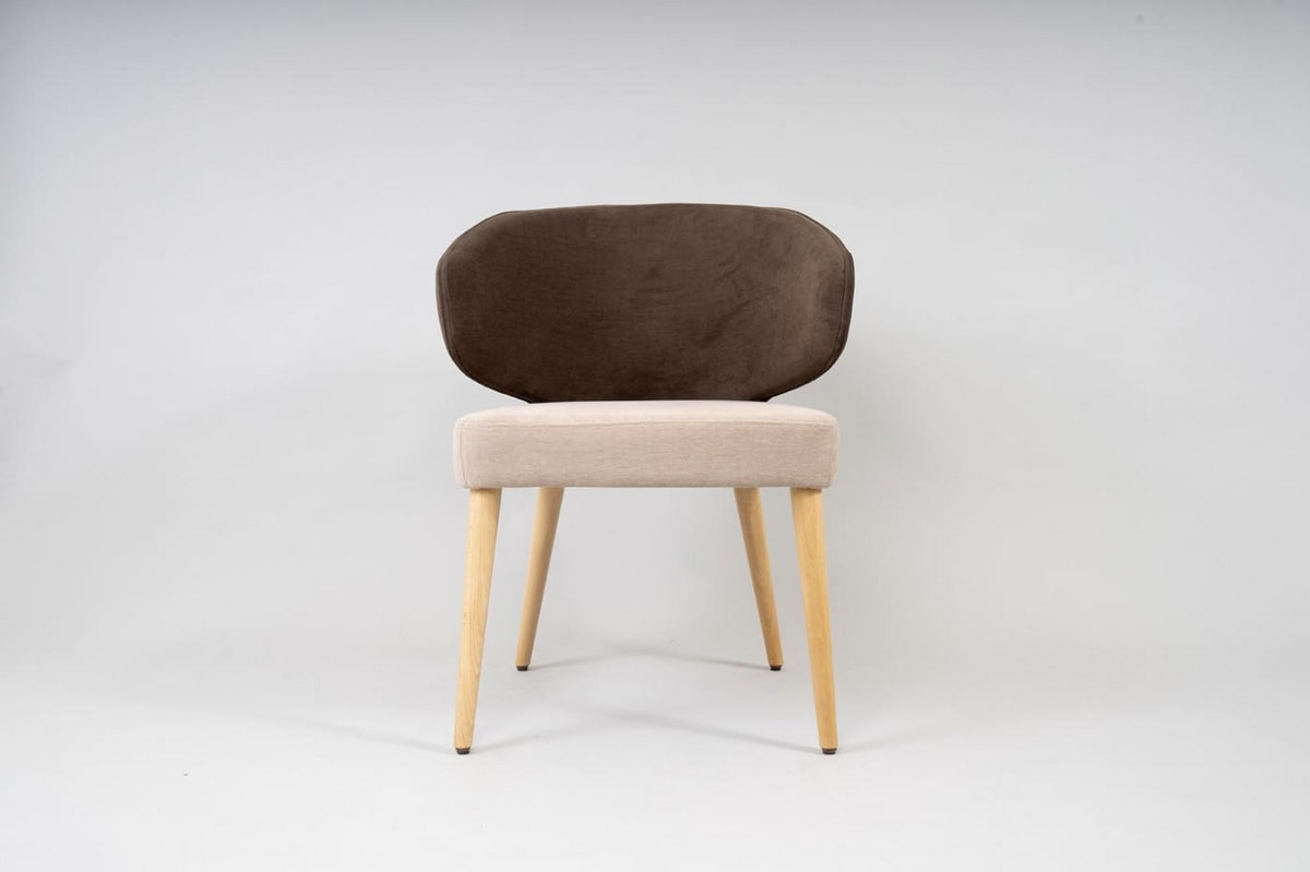 BS488A - Chair, Chair with enveloping backrest