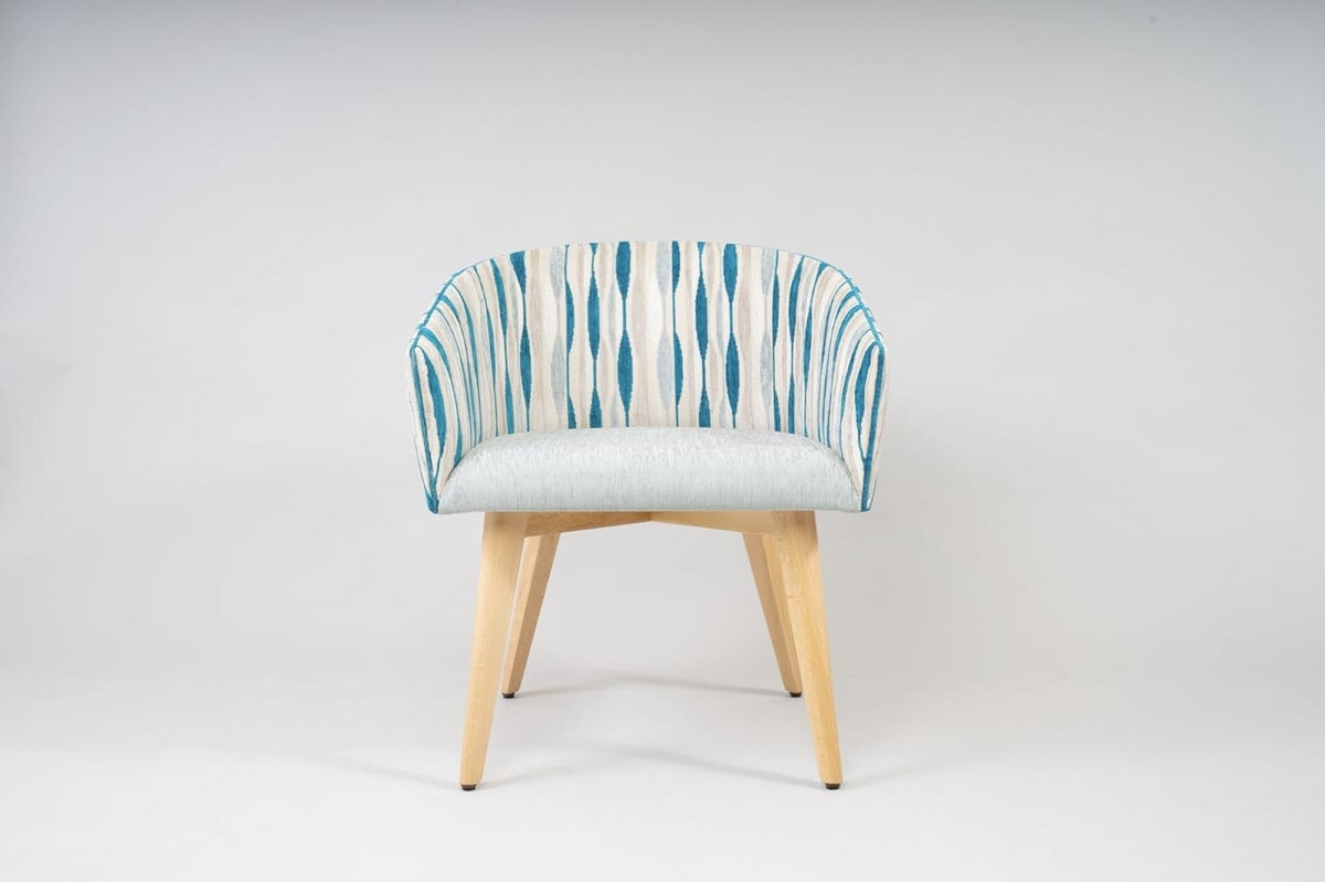 BS499A - Chair, Padded chair in contemporary style