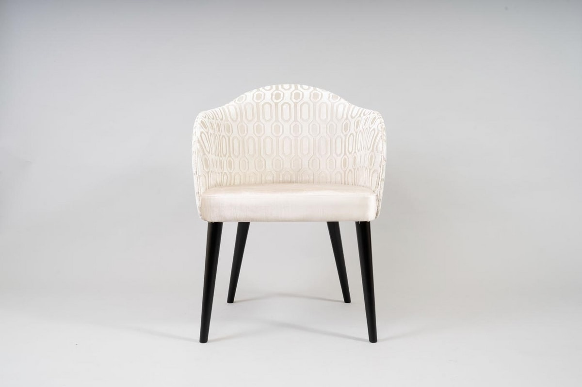 BS529A - Chair, Padded chair for hotel furnishing