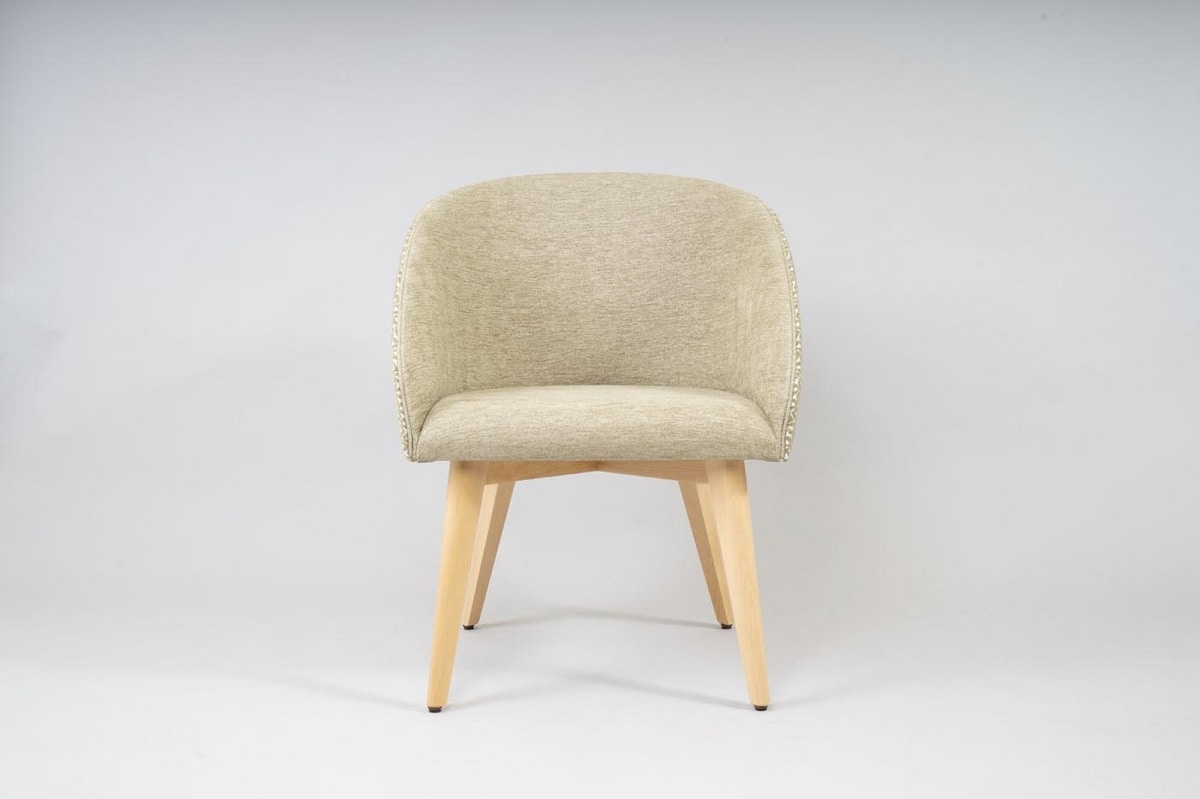 BS532A - Chair, Tub chair with padded seat and backrest