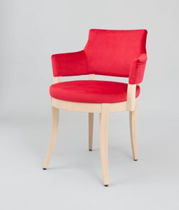 C42, Padded armchair with round seat
