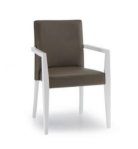 C63, Stackable upholstered chair