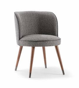 CANDY CHAIR 061 PO, Armchair with enveloping backrest