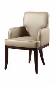 Chelsea chair, Chair with armrests, padded, for contract use