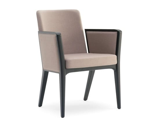 Cora-P, Upholstered armchair suitable for modern accommodation facilities