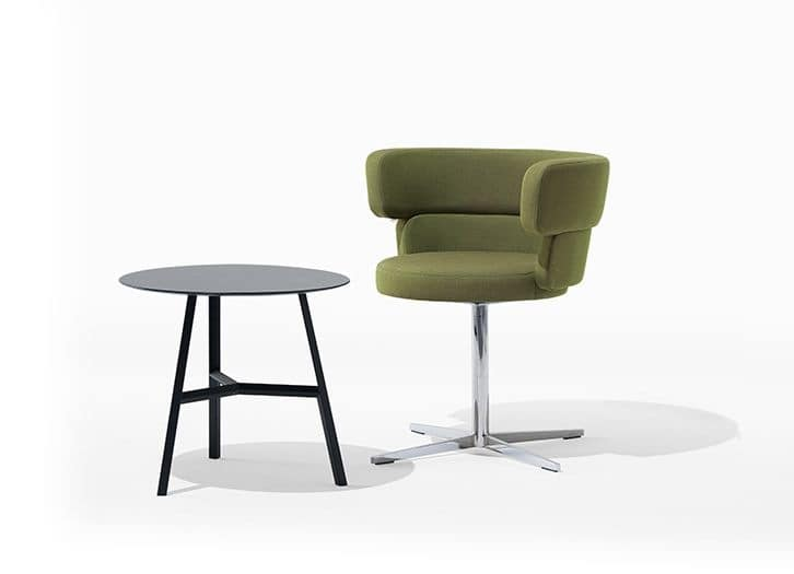 Dam, Modern armchair for home, with upholstered body for bar