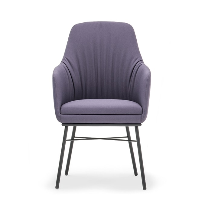 Danielle 03636, Small armchair with high backrest