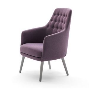 Danielle 03641K, Small armchair with button-down upholstery