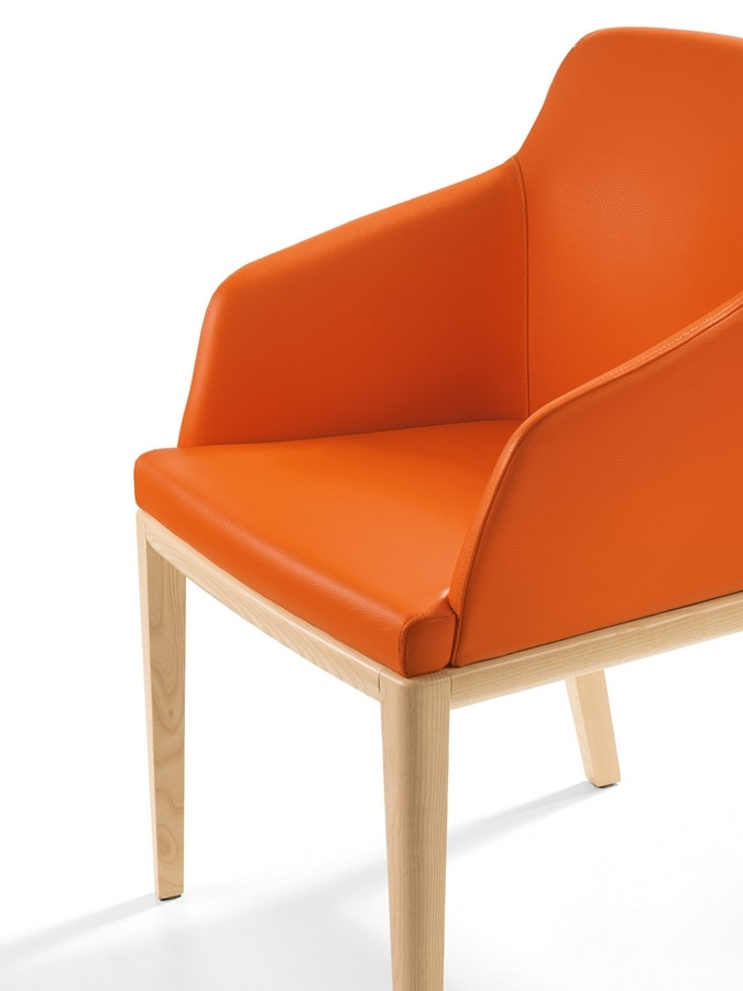 Dena PL, Chair upholstered in eco-leather