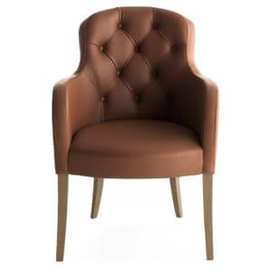 Euforia 00131K, Armchair with tufted backrest