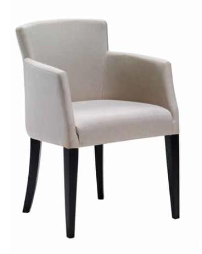 Garda-P, Upholstered small armchair for dining room