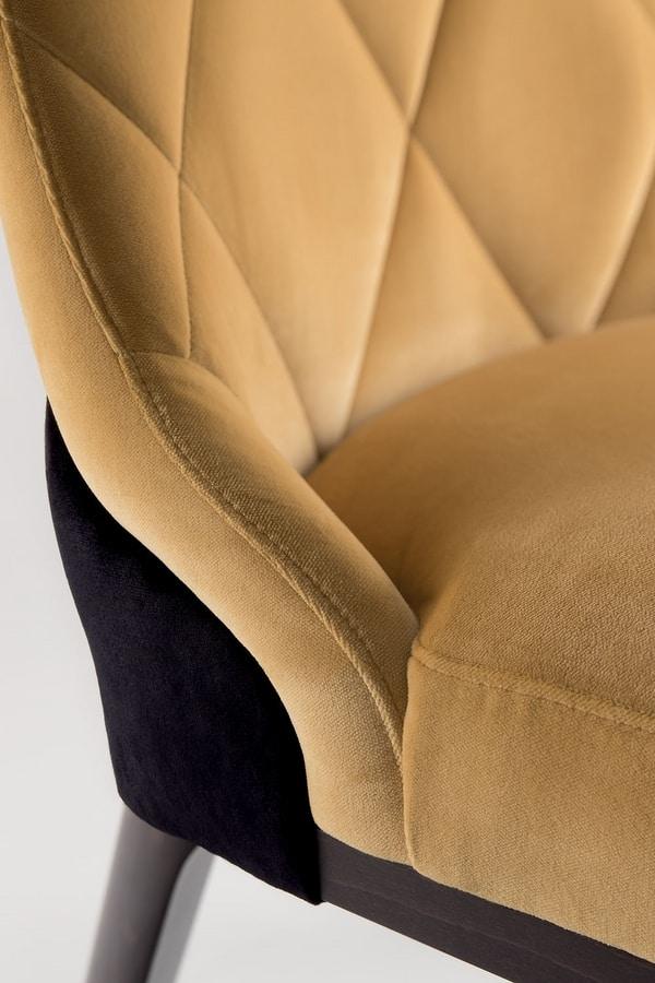 GILL ARM CHAIR 070 PO, Armchair with quilted back