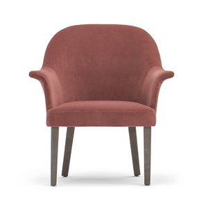 Grace 03431, Upholstered armchair with 4 solid wood legs
