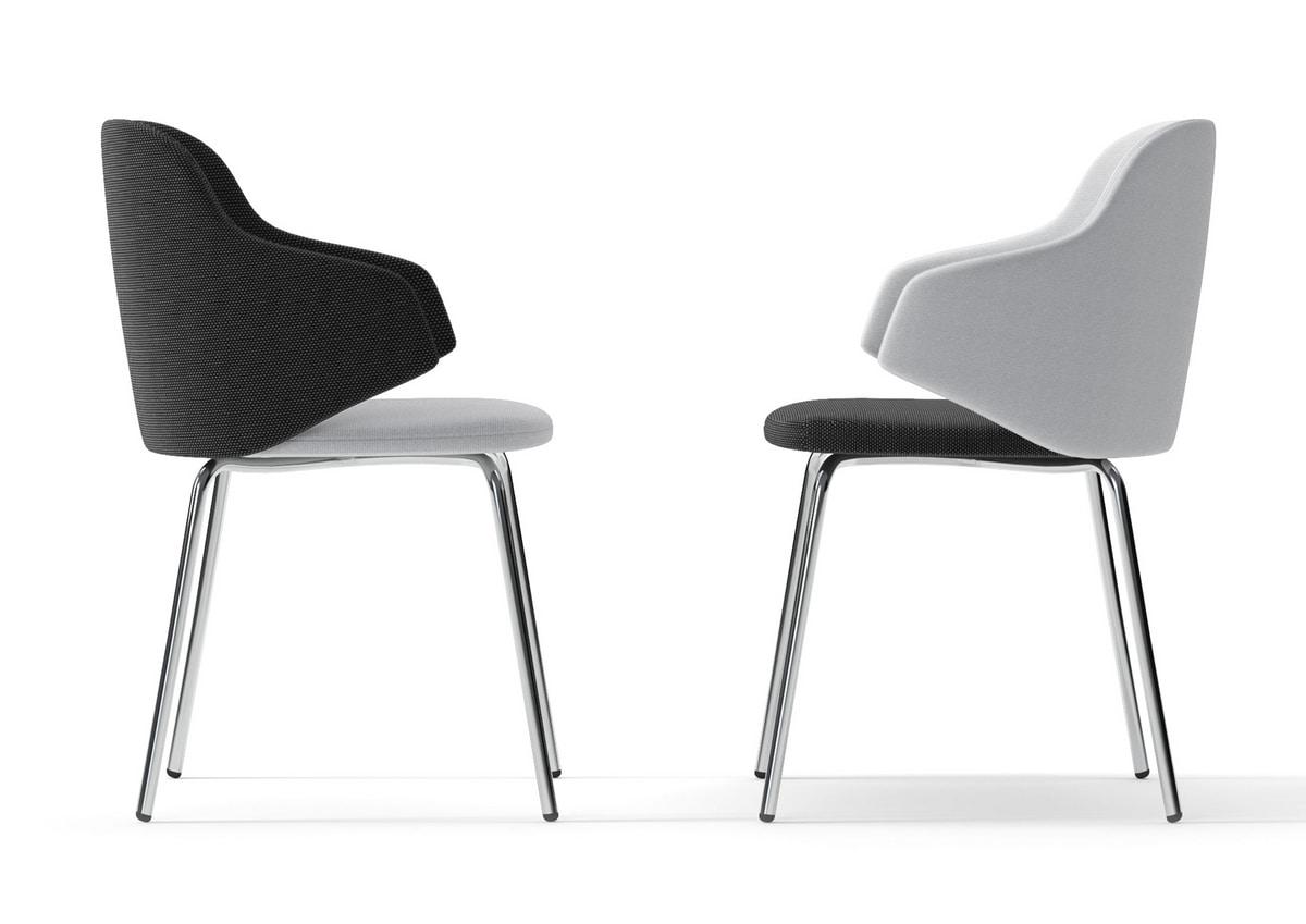 HOST, Armchair with steel legs