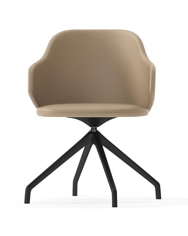 Swivel armchair with pyramidal base | IDFdesign