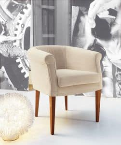 Isa, Armchair with fully removable upholstery, suitable for residential and contract situation