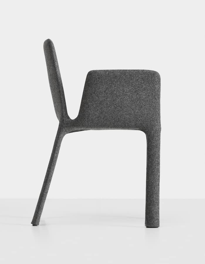 Joko with armrests, Fully upholstered armchair, for restaurants