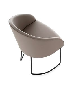 Kameo armchair, Waiting armchair with sled base