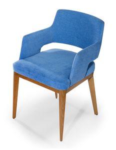 Kate BAR, Small armchair in customizable fabric