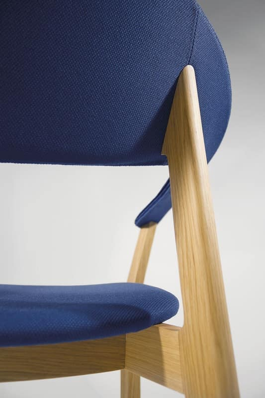 Lene P/FU, Design chair with armrests, essential, padded