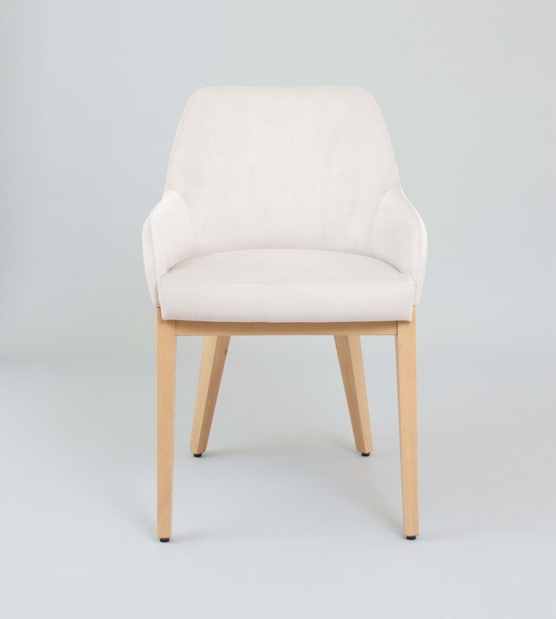 M43, Padded chair, wooden legs