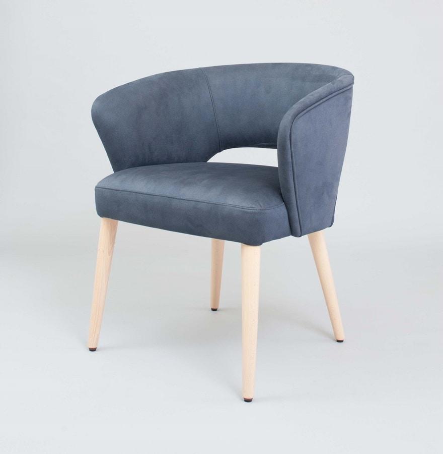 M45 BLU, Wrap-around small armchair
