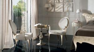 Miss armchair, Armchair in iron laser cut, round back