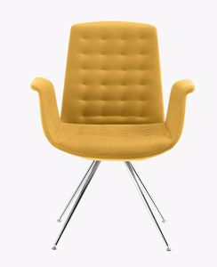 Mod�, Design armchair with chromed legs