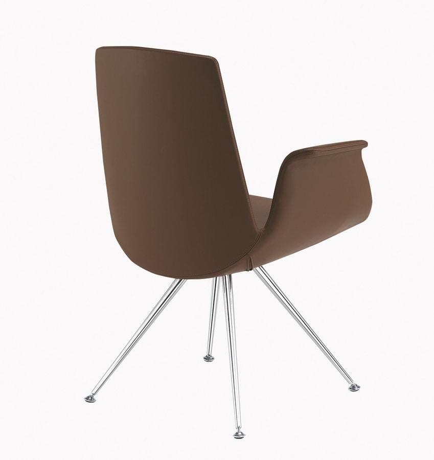 Modà, Design armchair with chromed legs