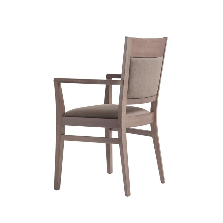MP472BP, Comfortable chair with armrests for hotels