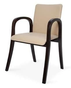 MV 2B, Upholstered chair with armrests, for modern hotels
