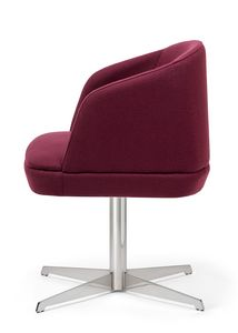 Noemi ARMS 2, Padded small armchair for contract use
