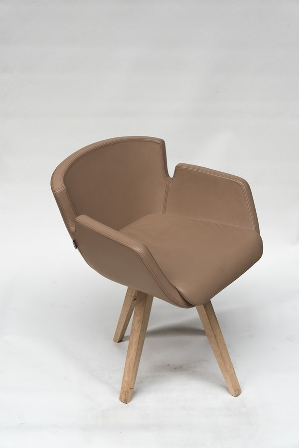 NUBIA 2900P, Armchair with beech base