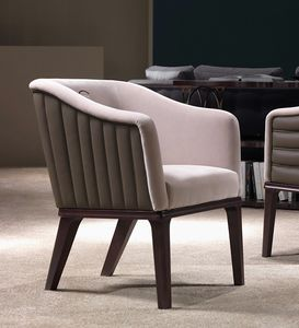 PO67 Club armchair, Armchair with vertical stitching