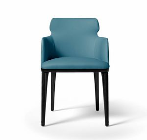 PO78 Shape armchair, Armchair with wooden legs