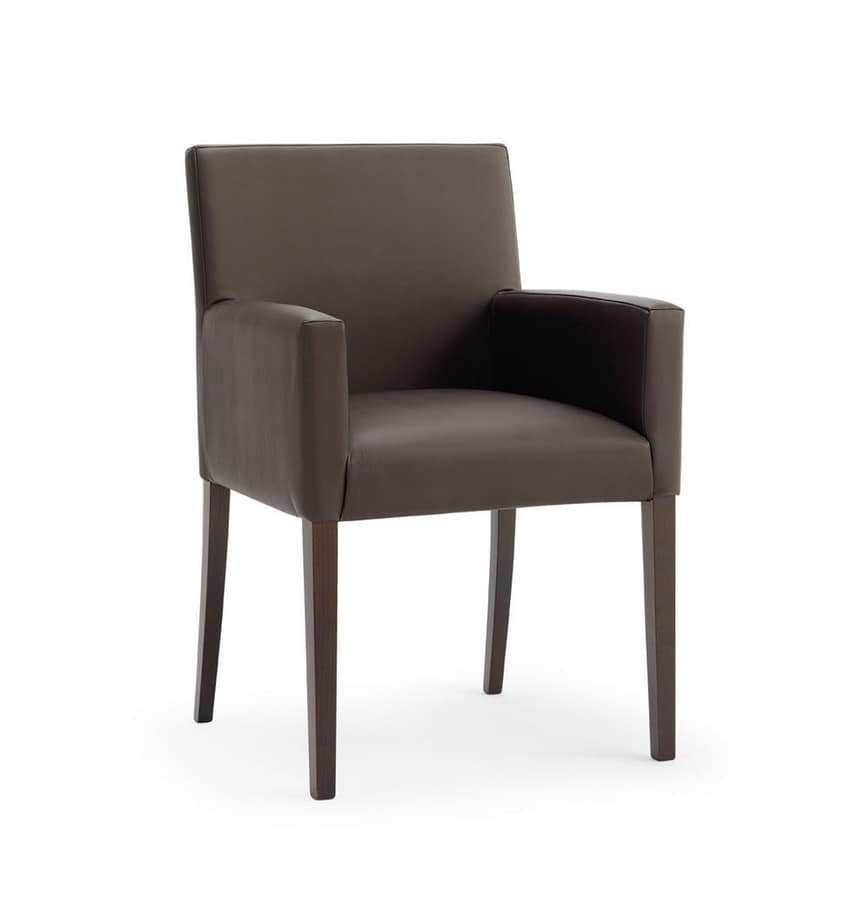 POLTRONA RELAX, Essential chair with beechwood frame