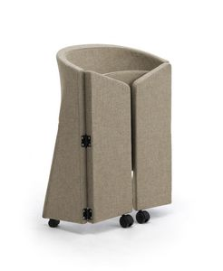 Reef foldable, Padded armchair with wheels, foldable