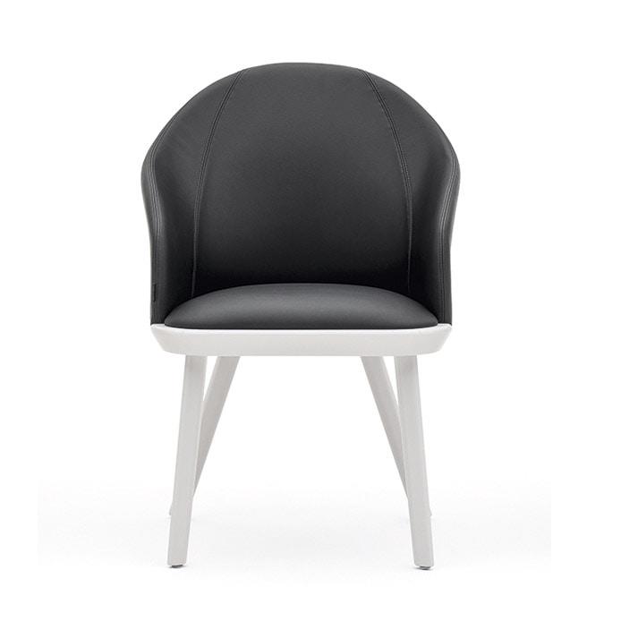 Rivolì 03331, Modern padded chair in fireproof polyurethane