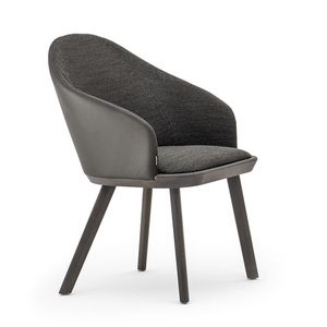 Rivol� 03331, Modern padded chair in fireproof polyurethane