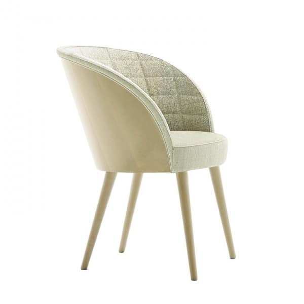 Rose 03038, Chair with backrest interior quilted in rectangles