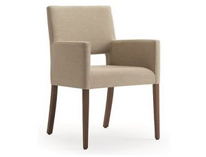 Selene-P1, Small armchair for elegant hotels