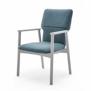 Twiggy 04121, Armchair with upholstered shell