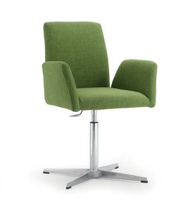 UF 510, Armchair with 4-spoke base and curved back